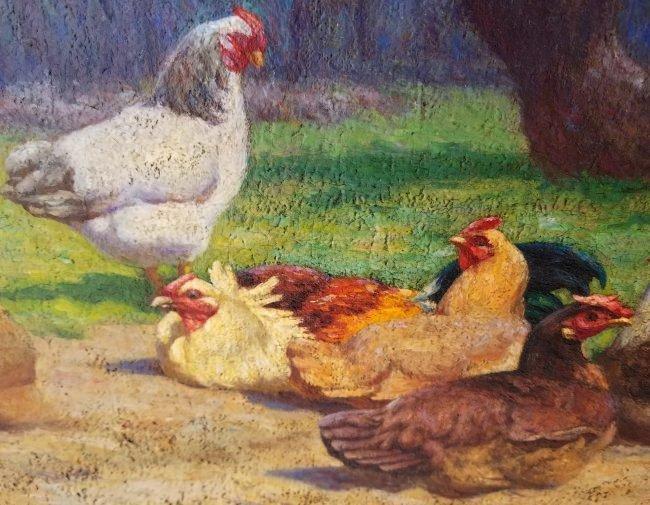 Walter Douglas Farm Chickens Genre Painting - 2