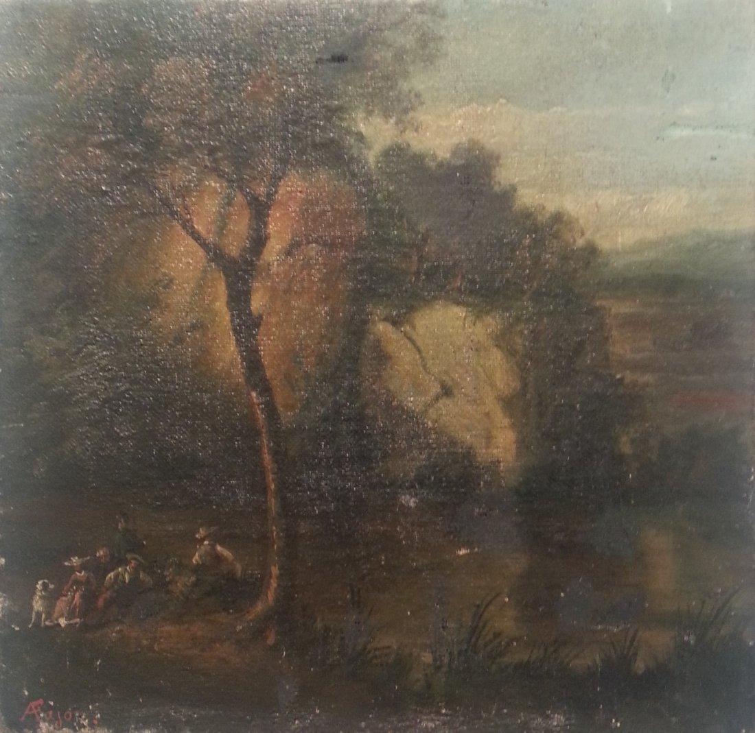 Auguste Fajon Gustave Courbet Family Fete