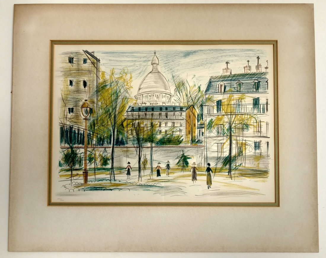 Maurice Utrillo French Lithograph