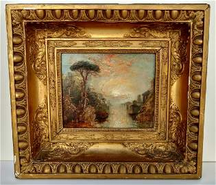 Hudson River School Italianate Landscape