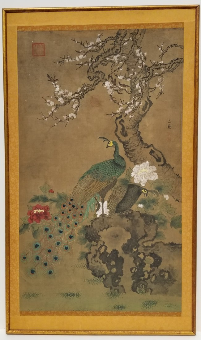 Chinese Japanese Korean Scroll Painting A