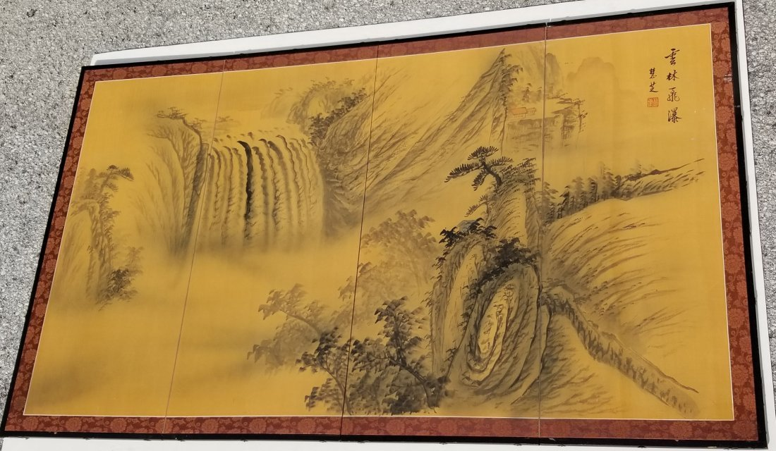Chinese Japanese Korean Scroll Painting F