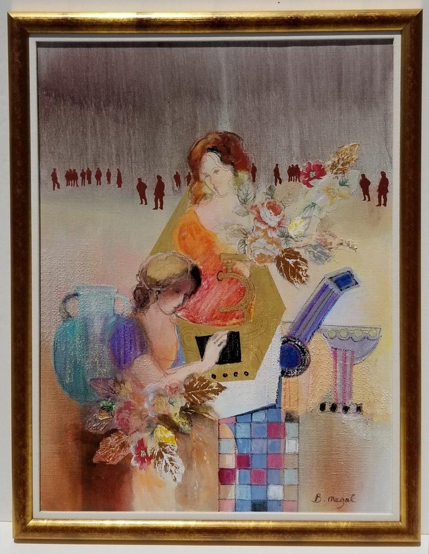 Large Batia Magal Israeli Painting