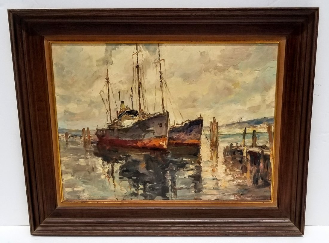 Edgar Forkner Indiana Painting A