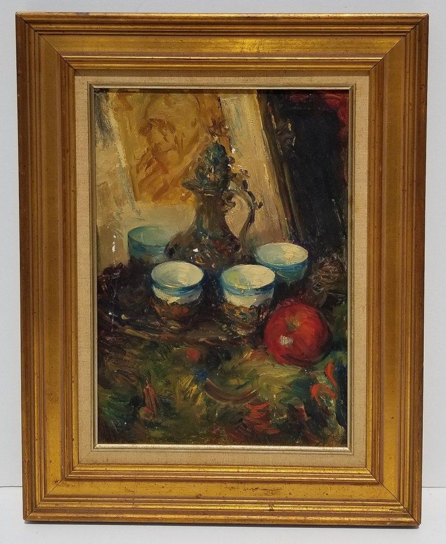 Illegible Impressionist Indiana Painting B