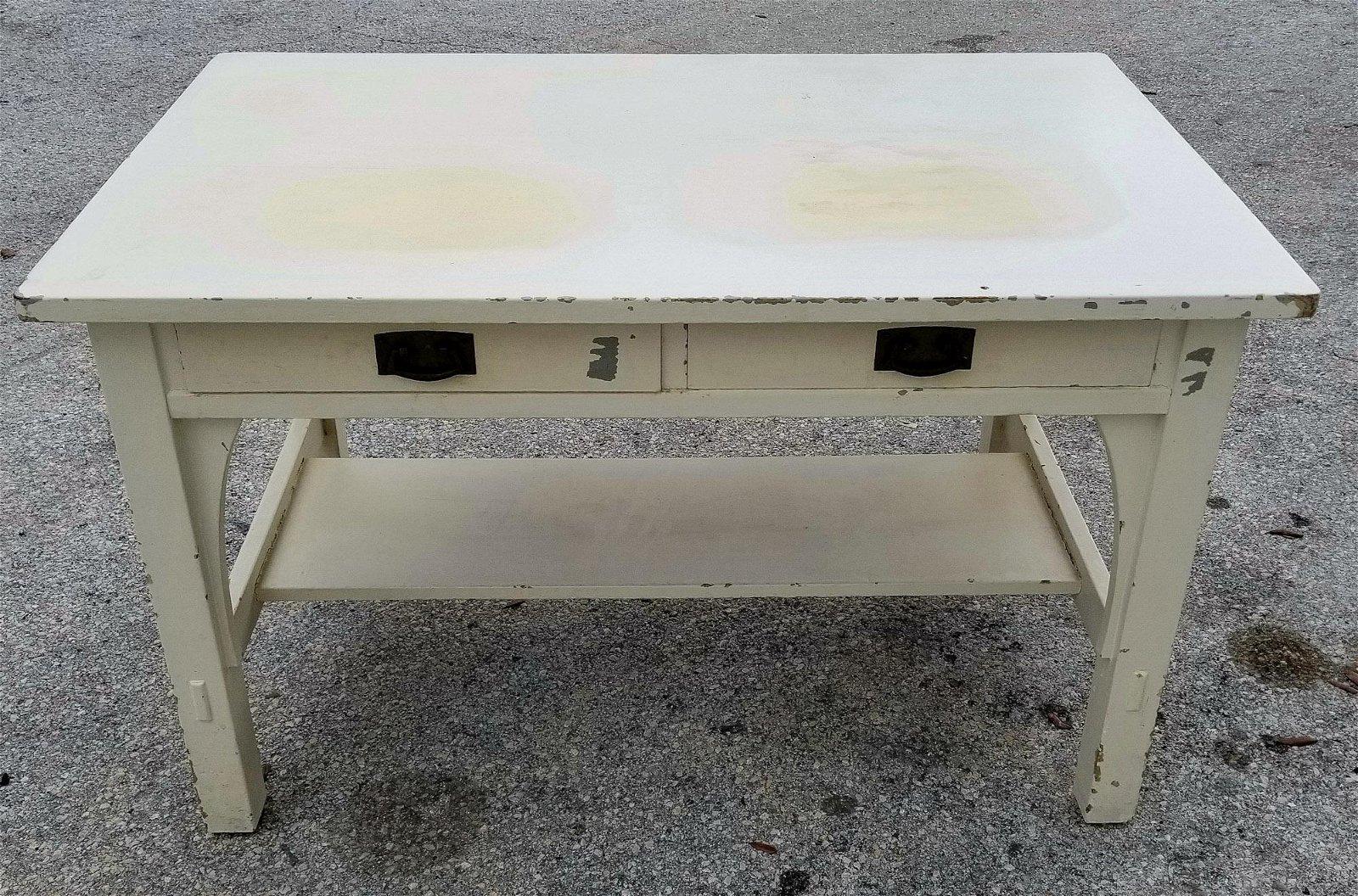 Signed L & JG Stickley 2 Drawer Desk