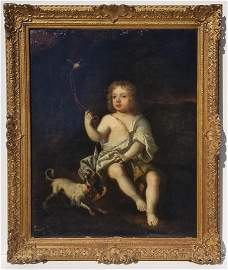 Sir Peter Lely Boy with Dog Portrait
