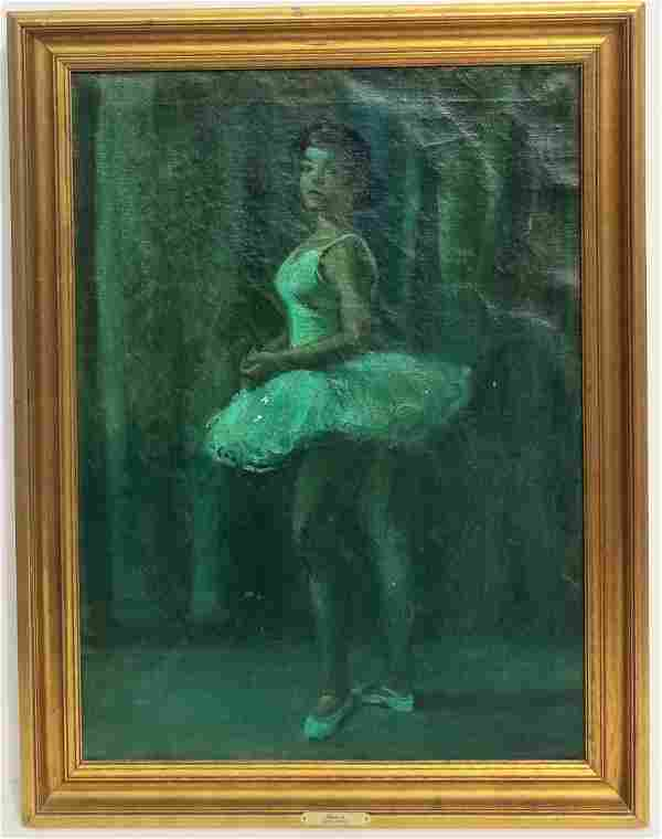 Moses Soyer Ballerina Painting