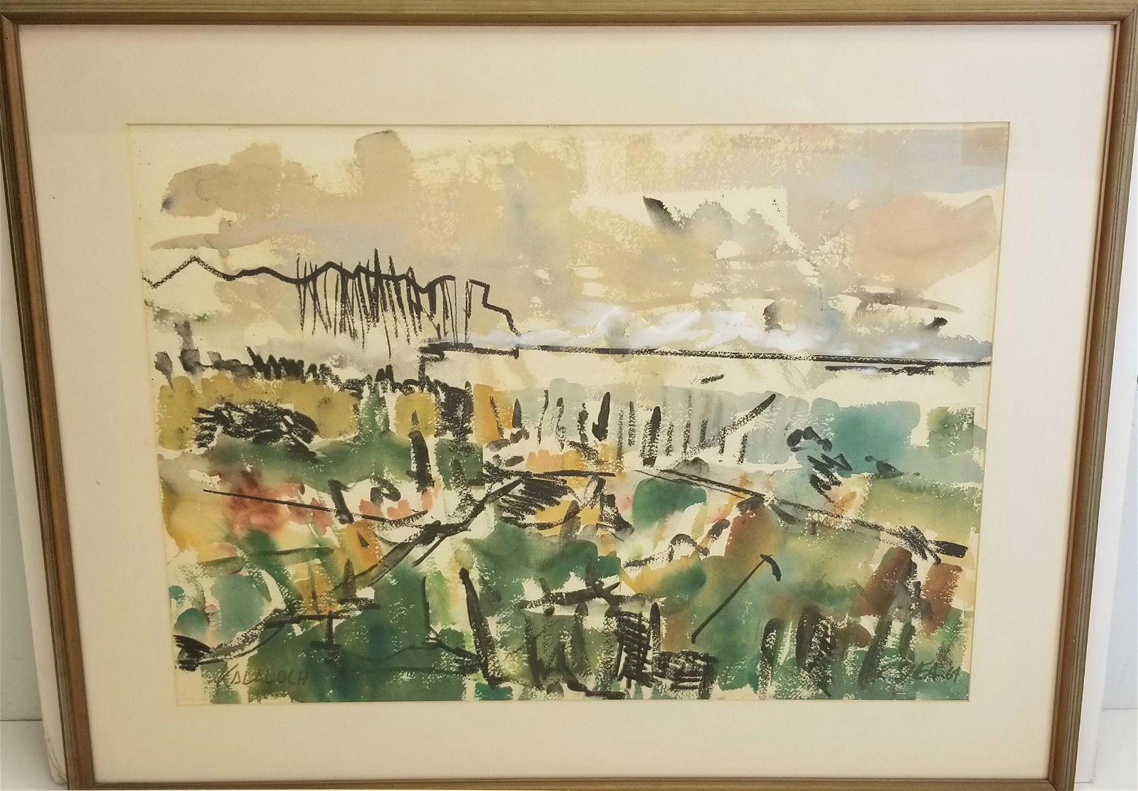 R Shea Kala Loch Watercolor