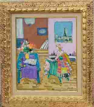 Gilles Gorriti French Impressionist Interior