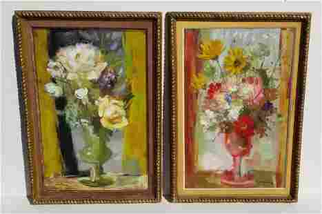 Pair Pierre Jerome Still Life Paintings