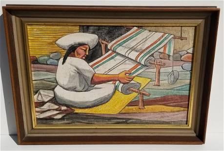 Mystery Artist Moishe R Weaving Oil