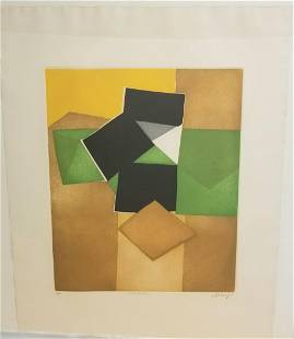 Bertrand Dorney French Abstract Etching