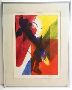 Paul Jenkins Abstract Lithograph Ed35