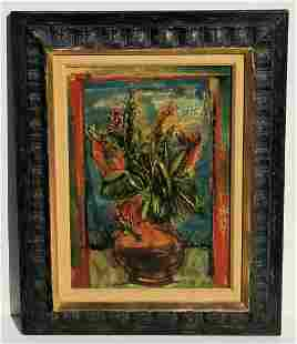 Frederic Taubes Field Flowers Oil