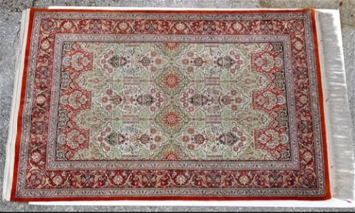 Signed Silk Persian Carpet Isfahan