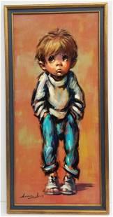 Barry Leighton-Jones Big Eye Boy Painting