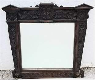 Victorian Oak North Wind Mirror