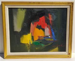Mystery Abstract Oil James E S