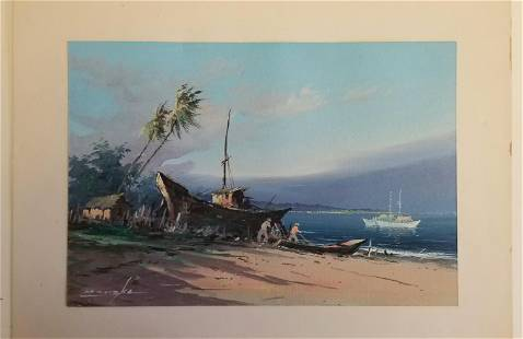 Reynaldo Manzke Tropical Brazilian Watercolor