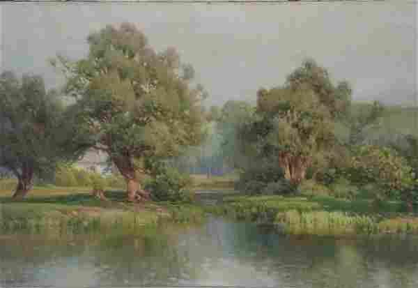 Large Gustave Weigand Landscape Ex Vose