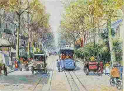 Orig H Claude Pissarro Painting COA 1of2