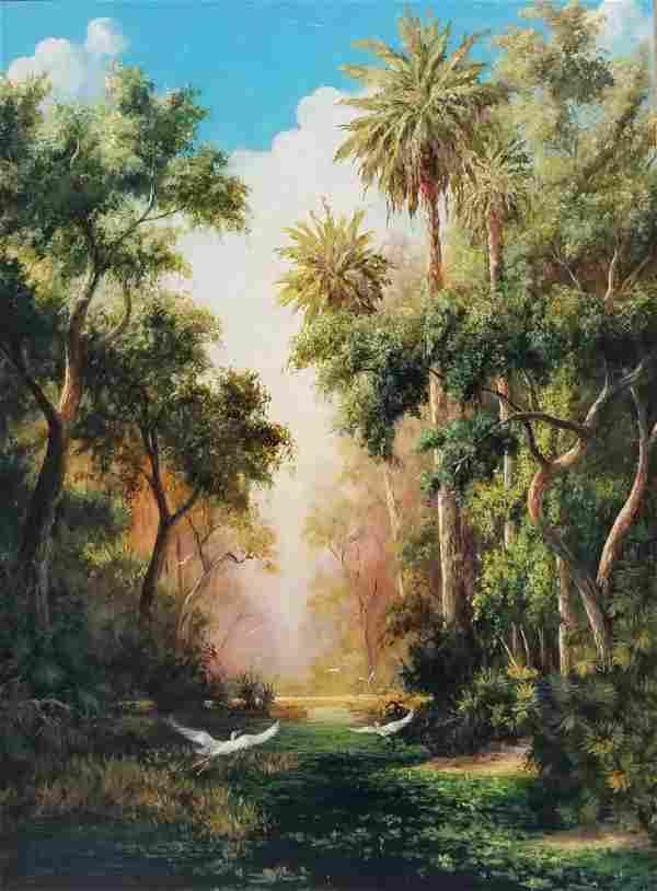 Huge Original Art Fronckowiak Painting
