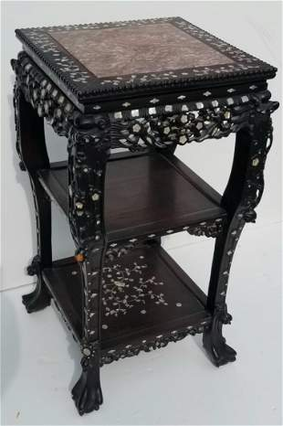 Chinese Export Qing MOP Hardwood MT Stand