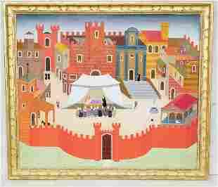 Large Philip Castle Italian Medieval Landscape