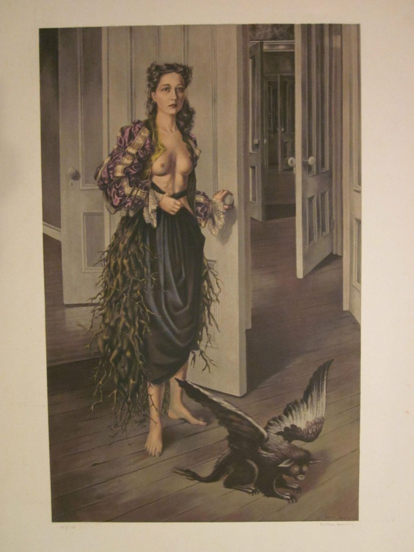 Dorothea Tanning Signed Color Surrealist Lithograph Ent