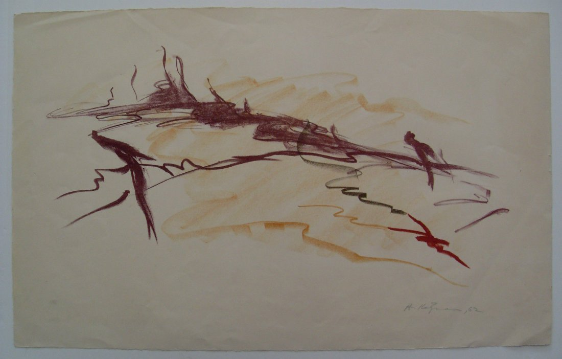 1962 Herbert Katzman Abstract Signed Color Lithograph o - 2