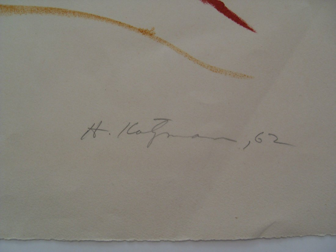 1962 Herbert Katzman Abstract Signed Color Lithograph o - 3