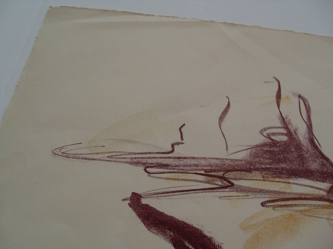 1962 Herbert Katzman Abstract Signed Color Lithograph o - 4