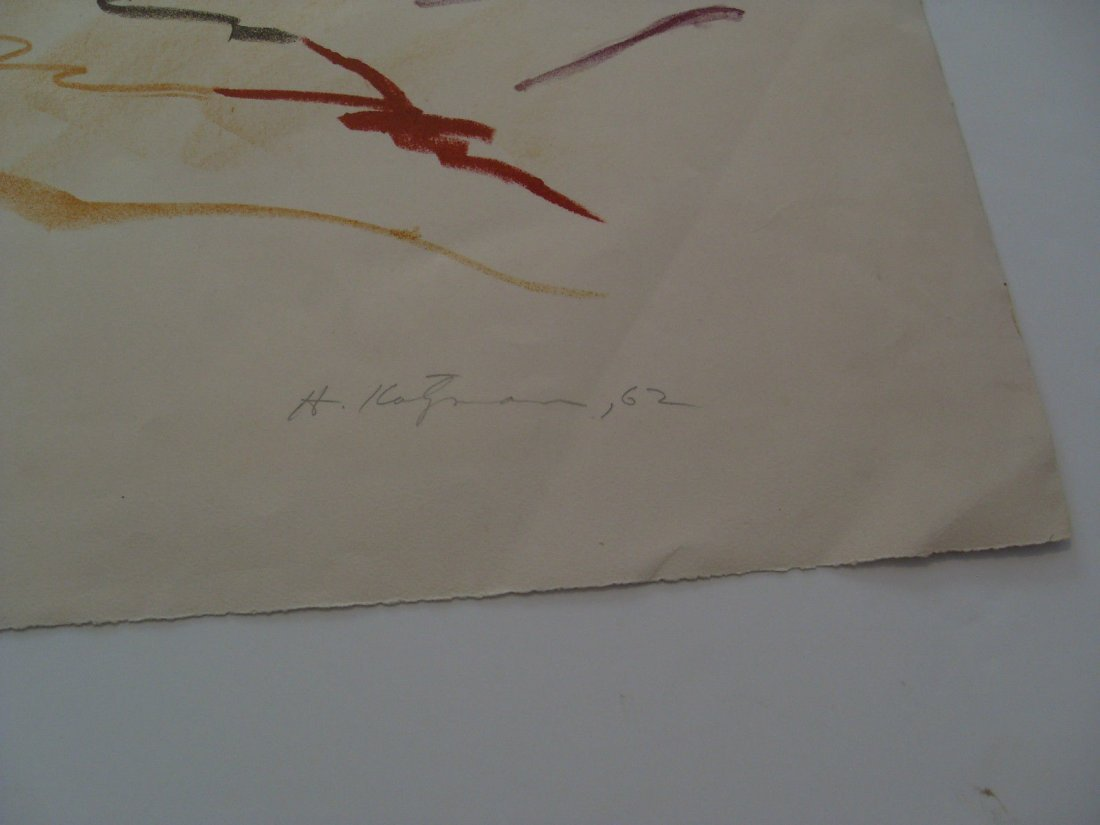 1962 Herbert Katzman Abstract Signed Color Lithograph o - 9