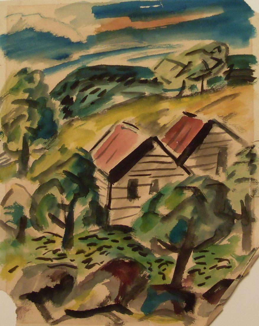 Irving Lehman Original Work on Paper by WPA Russian Ame