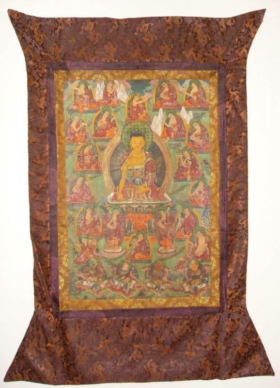 Antique Tibetan Chinese Qing Dynasty Thangka