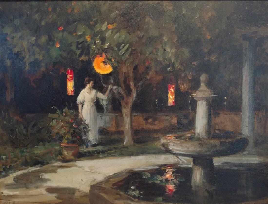 Howard Russell Butler Japanese Garden Impressionist Oil
