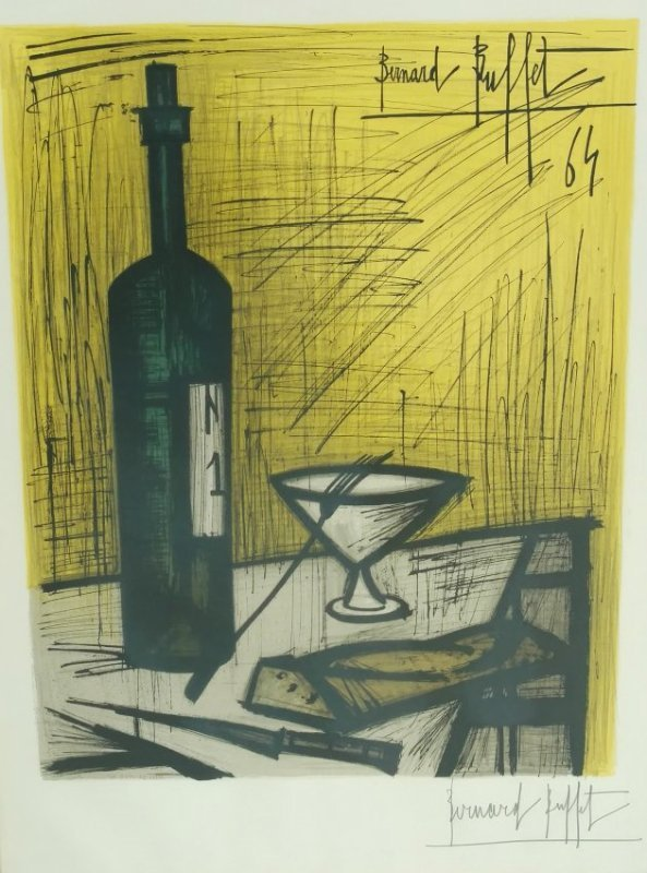 Bernard Buffet Paris 1965 Pencil Signed Lithograph