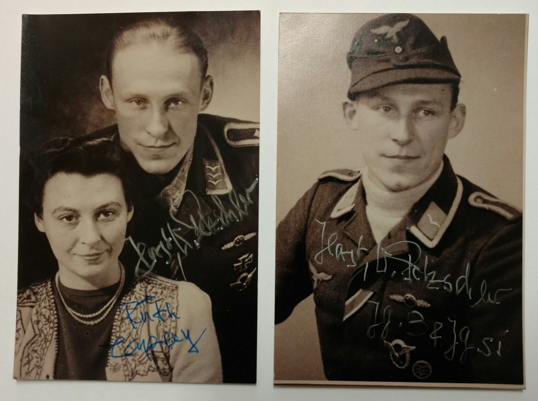 2 Sgd German WWII Luftwaffe Ace Horst Petzschler Photos