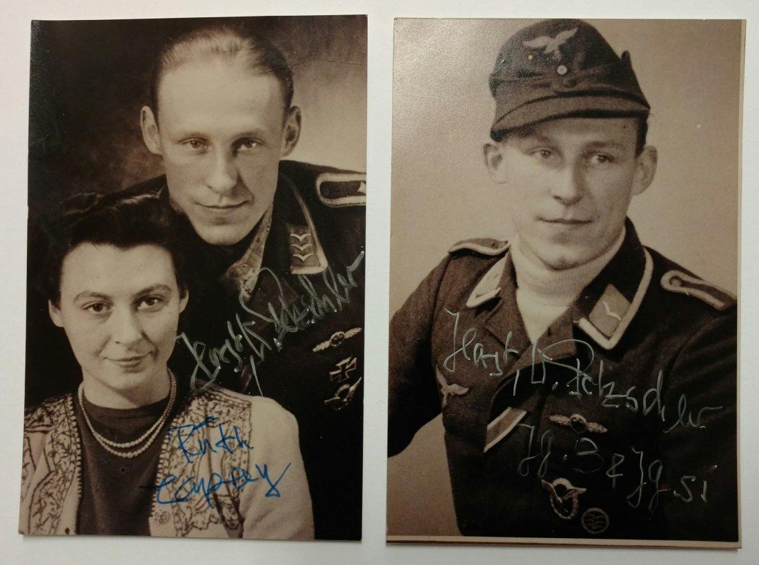 2 Sgd German WWII Luftwaffe Ace Horst Petzschler Photos