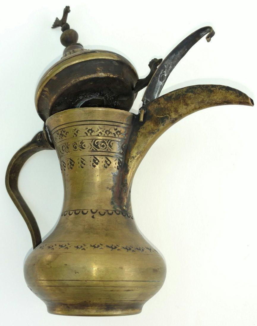 Antique Signed Persian Islamic Qawha Coffee Pot Dallah - 2