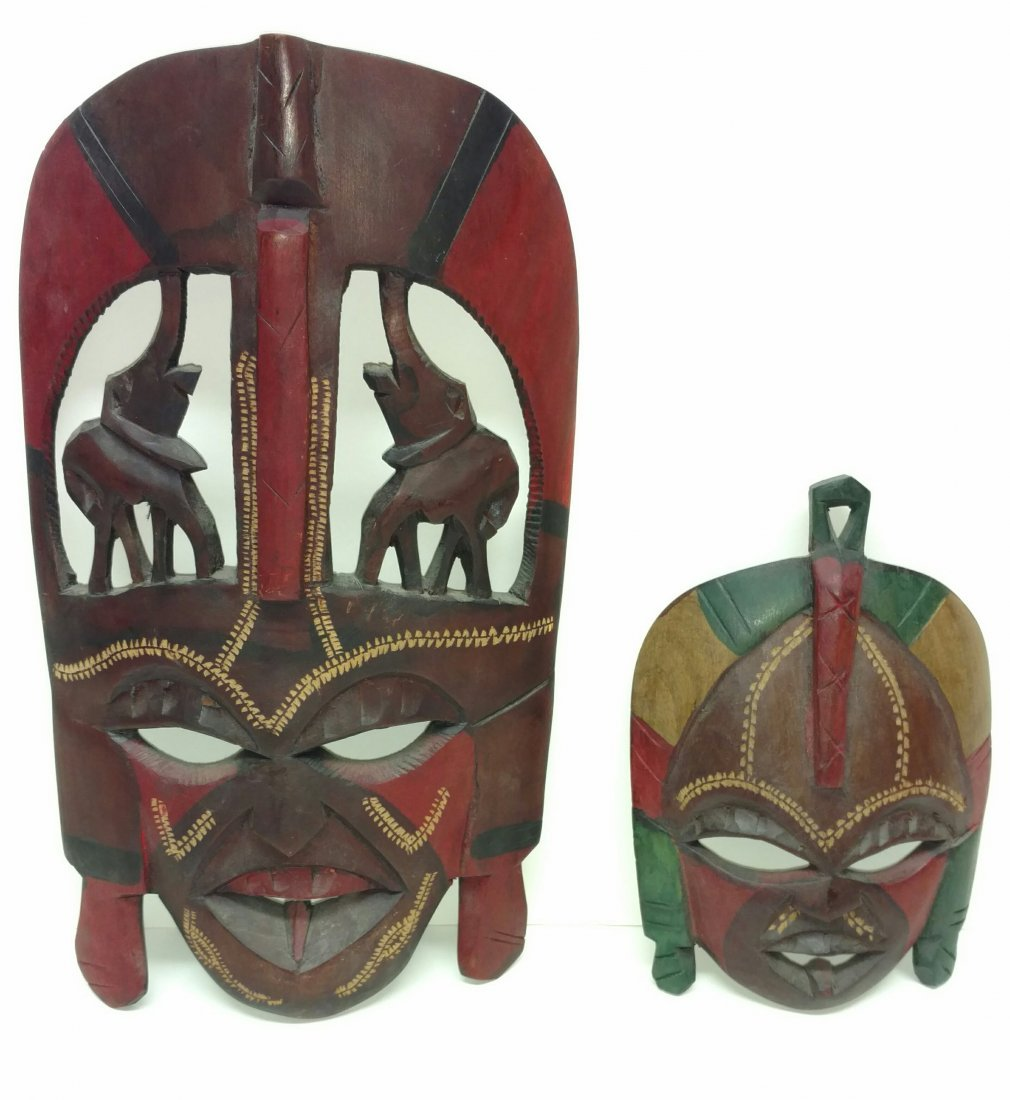 Two Kenya Masks Clinton Collection African Tribal Art