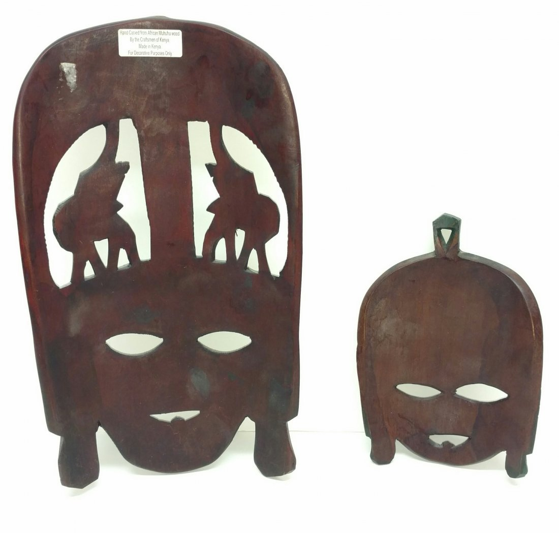 Two Kenya Masks Clinton Collection African Tribal Art - 2