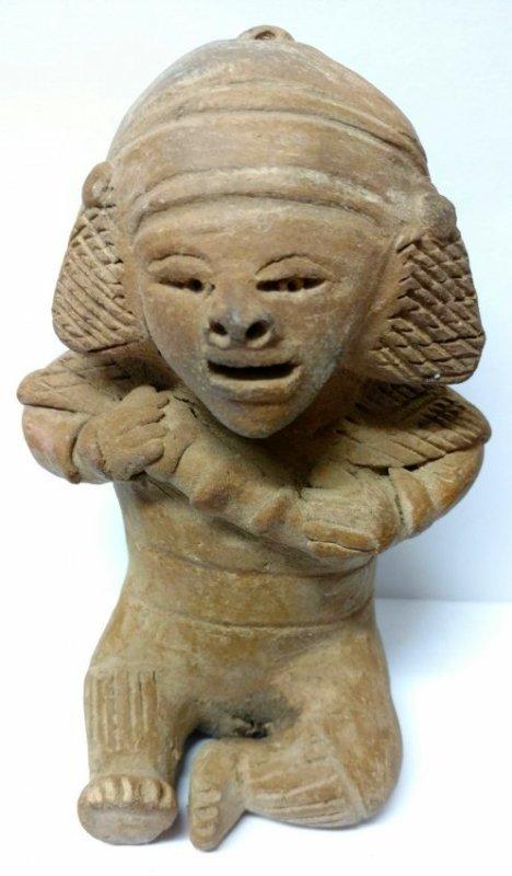 Seated Pre-Columbian Pottery Figure