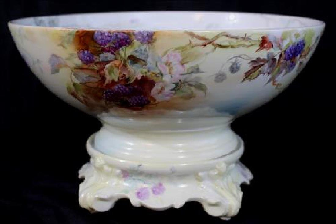 2 piece T&V Limoges hand painted bowl on stand