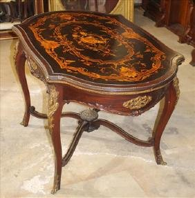 Rosewood Victorian center table with inlaid top