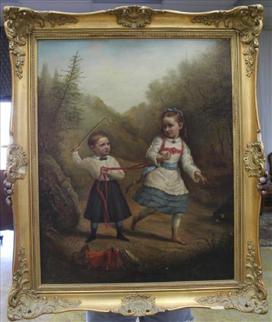 Antique oil on canvas/board by Adam Springfield