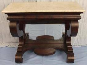Empire pier table with original marble attrib. to Meeks