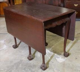 Solid mahogany drop leaf table with extra leaf
