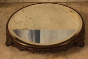 Victorian plateau mirror with beveled glass